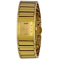 Rado Integral Gold Diamond Dial Ladies Watch R20783732