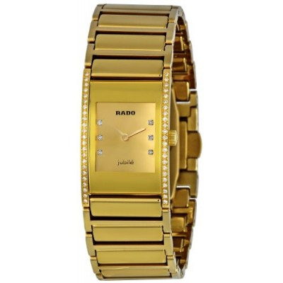 Купить Rado Integral Gold Diamond Dial Ladies Watch R20783732- в интернет магазине Муравей