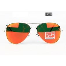 Ray Ban 3026 mirror red gold