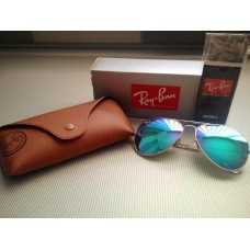 Ray Ban 3025 mirror green silver