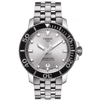 Купить оригинальные мужские часы Tissot Seastar T120.407.11.031.00 Powermatic 80 в интернет магазине Муравей