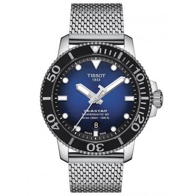 Купить оригинальные мужские часы Tissot Seastar T120.407.11.041.02 Powermatic 80 в интернет магазине Муравей