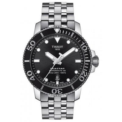 Купить оригинальные мужские часы Tissot Seastar T120.407.11.051.00 Powermatic 80 в интернет магазине Муравей