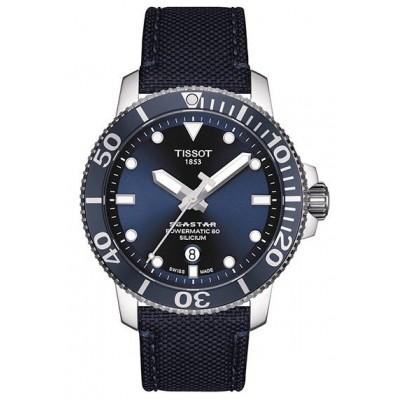 Купить оригинальные мужские часы Tissot Seastar T120.407.17.041.01 Powermatic 80 в интернет магазине Муравей