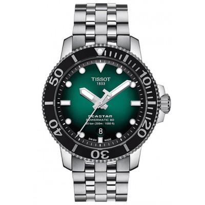 Купить оригинальные мужские часы Tissot Seastar T120.407.11.091.01 Powermatic 80 в интернет магазине Муравей