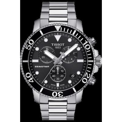 Купить оригинальные мужские часы TISSOT T120.417.11.051.00 Seastar 1000 в интернет магазине Муравей